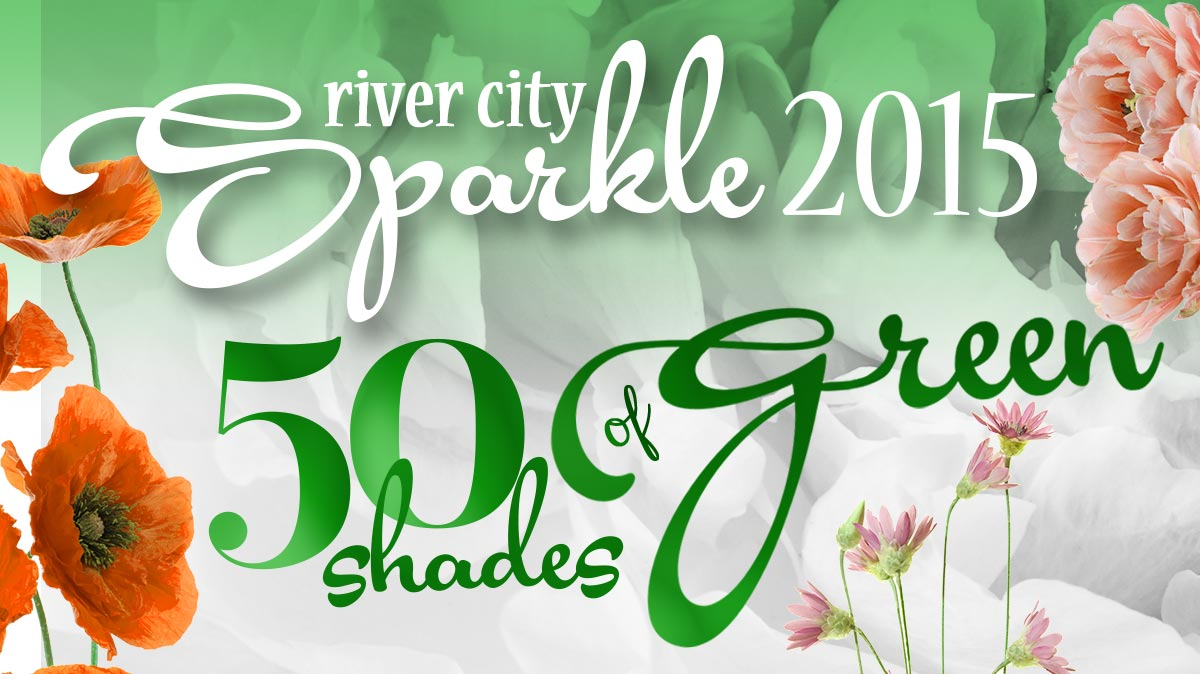 River City Sparkle - 50 Shades of Green