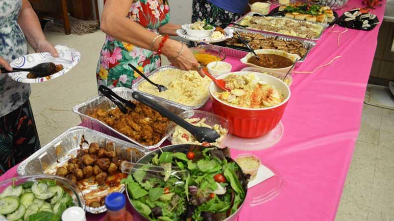 River City Gems Luau buffet